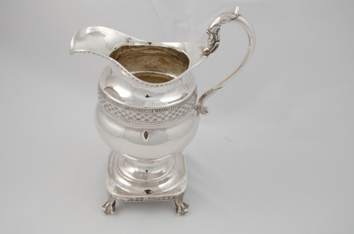 Whartenby & Bumm silver creamer (1812-1818) with Madison provenance through James C. McGuire, executor of Dolley Madison's and John Payne Todd's estate.