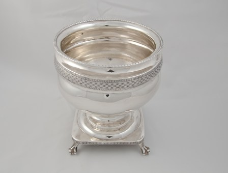 Whartenby & Bumm silver waste bowl (1812-1818) with Madison provenance through James C. McGuire, executor of Dolley Madison's and John Payne Todd's estate.
