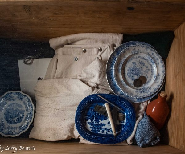 Display of personal household items in one of the South Yard dwellings.