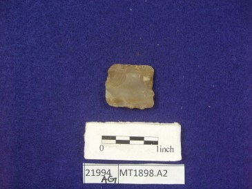 Gun flint found archaeologically in the South Yard at Montpelier.