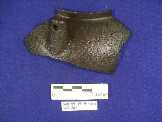 Cast iron pot fragment, South Yard.