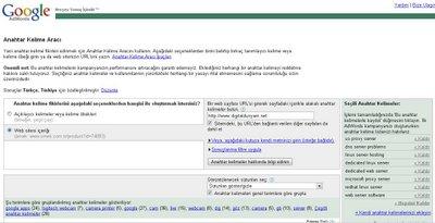 Google Anahtar Kelime Bulucu