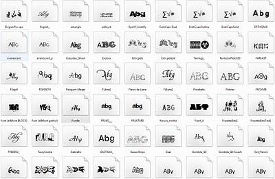 Photoshop için yazı fontları