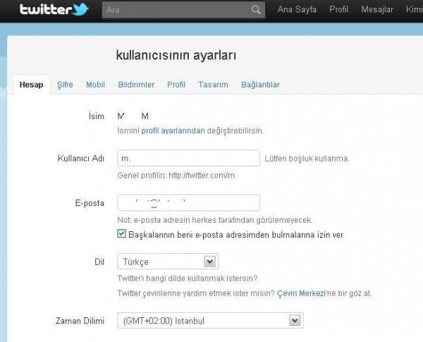 Türkçe Twitter kullanmak