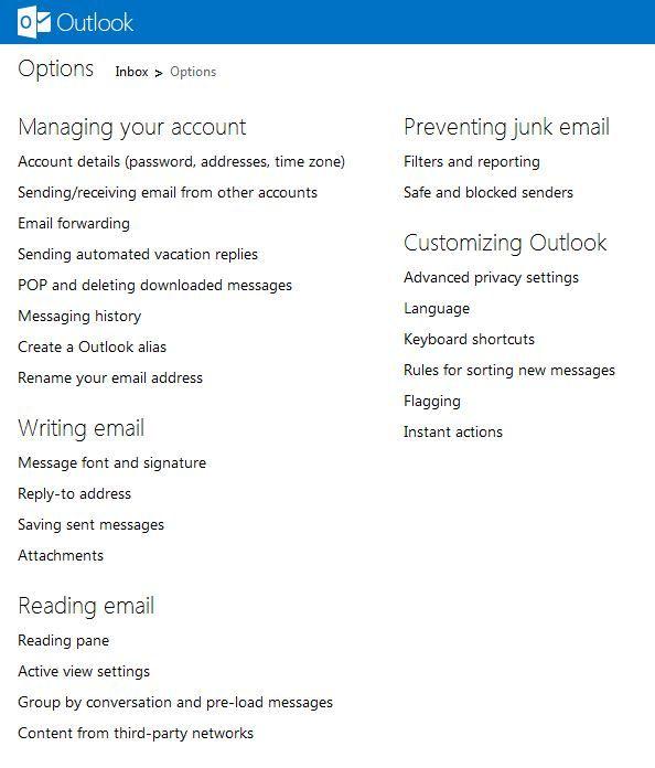 Outlook Türkçe dil ayarı ve diğer ayarlar