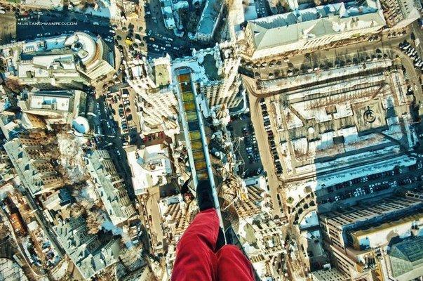 Yükseklik korkusu olmayanlara fotoğraflar