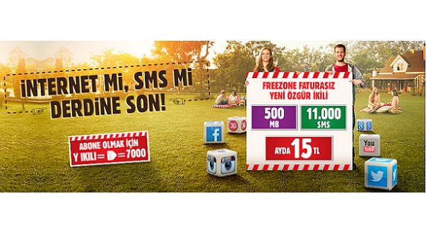 Vodafone Freezone SMS ve internet paketi