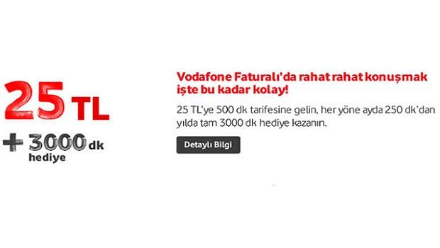 Yeni Vodafone'lulara 25 TL ye 750 dakika