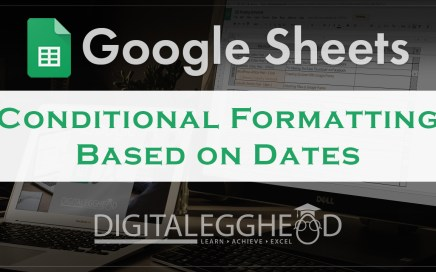 Google Sheets Tips - Header - Conditional Formatting Based on Date
