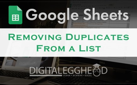 Google Sheets Tips - Header - Remove Duplicates with UNIQUE
