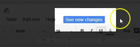 Google Docs Recent Revisions - 01