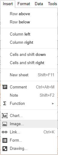 Google-Sheets-Inserting-Images-01-Insert-Menu