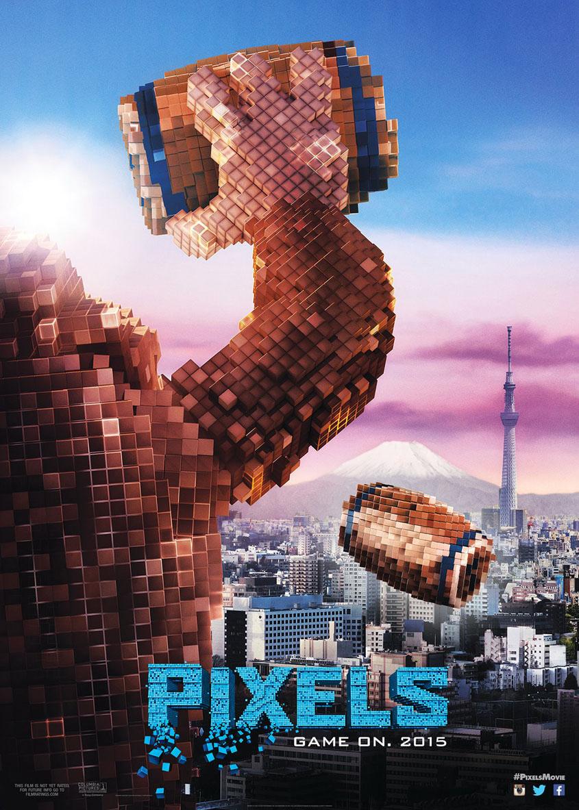 Pixels - Donkey Kong - Tokyo - Plakat