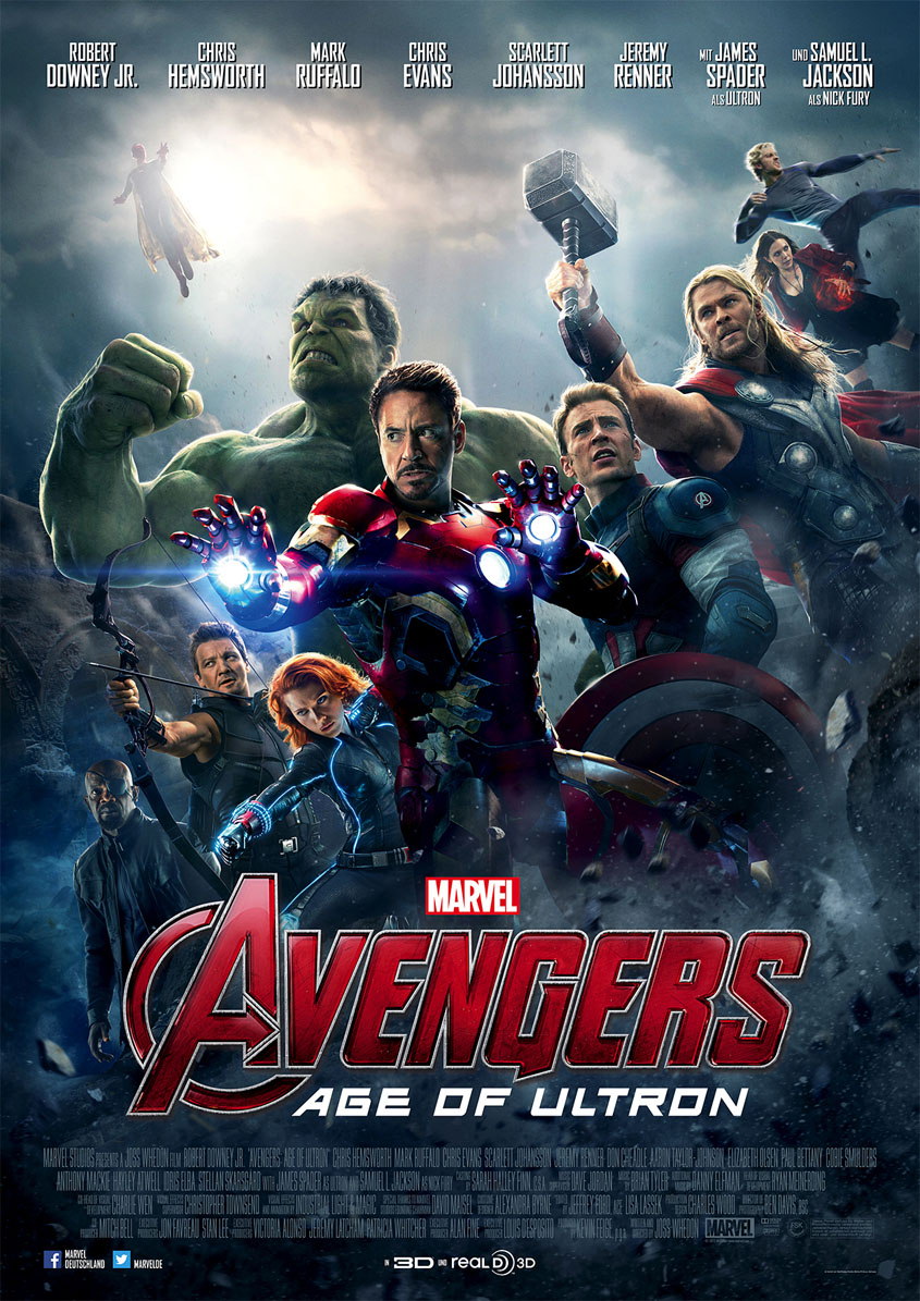 Avengers - Age of Ultron - deutsches Plakat