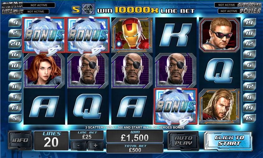 Marvel Online Slot