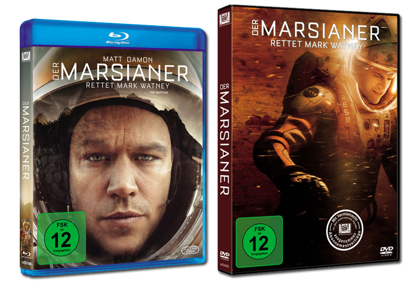 Der Marsianer Blu-ray DVD