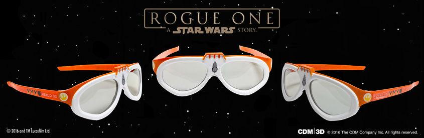 ROGUE ONE - STAR WARS STORY- limitierte 3D-Brillen Rebel Pilot