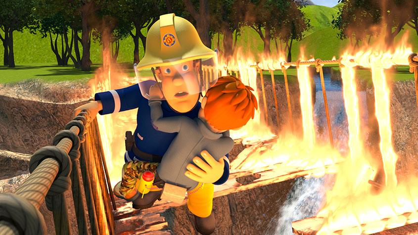 Feuerwehrmann Sam_Ploetzlich Filmheld_Szenenbild
