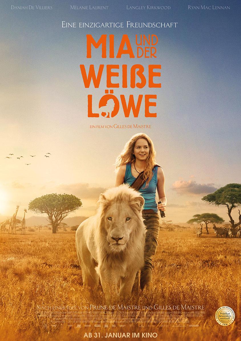 Mia und der weisse Loewe-Plakat
