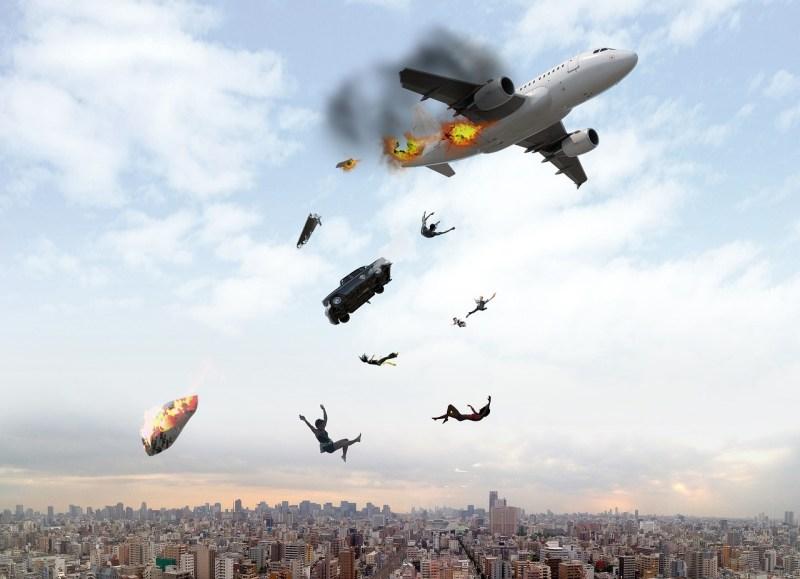Symbolbild von einem Flugzeug in Schwierigkeiten
