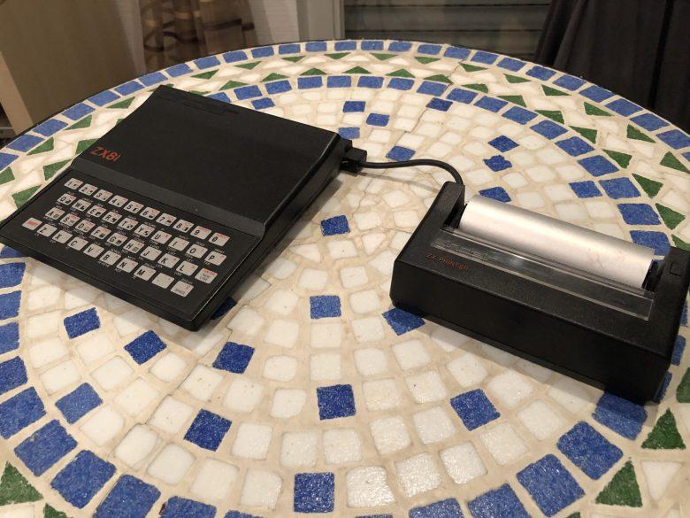 Der ZX Printer an einem Sinclair ZX81