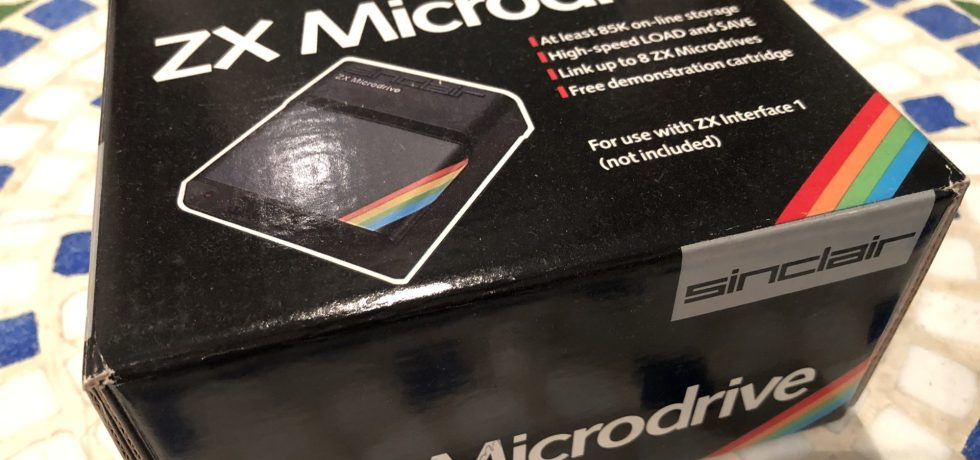 Sinclair ZX Microdrive in Originalverpackung