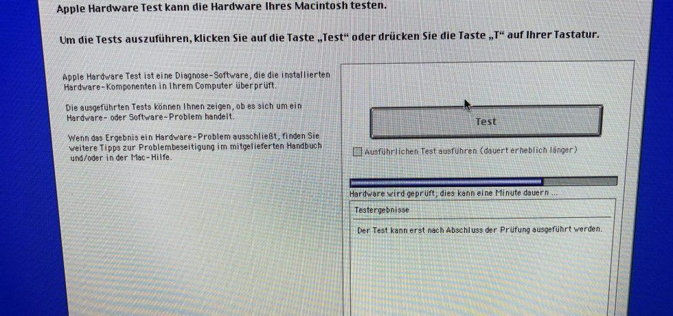 iMac funktioniert nicht mehr. Hardwaretest auf iMac 2011