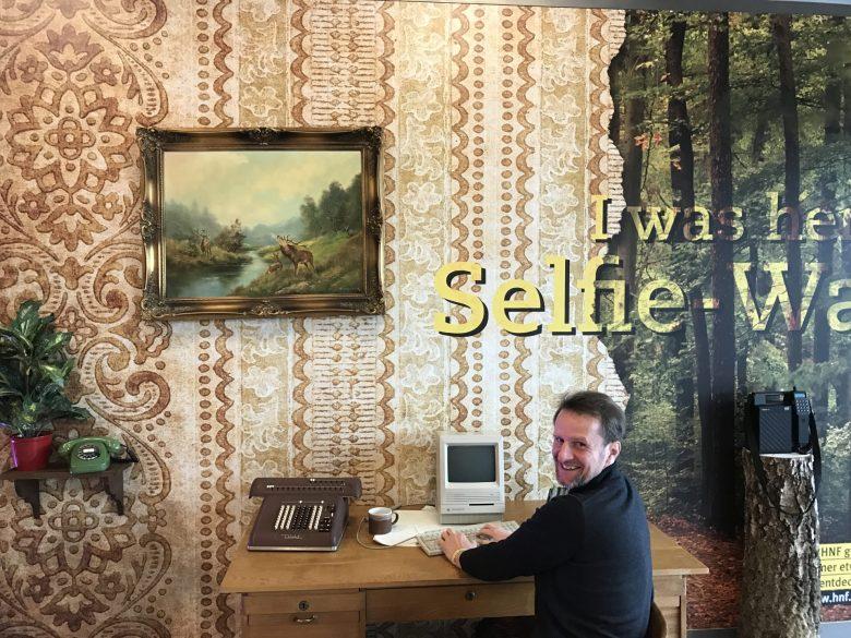 In der Halle des Heinz Nixdorf Museum. Eine kleine gemütliche Ecke aus vergangenen Zeiten