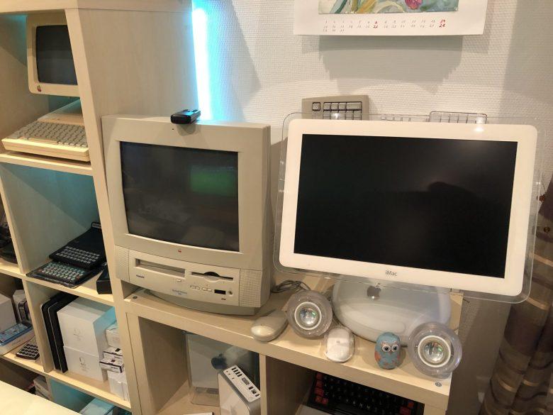 Ein weiterer iMac und ein AIO-Mac, der Performa 5200. Computermuseum wegen Überfüllung geschlossen
