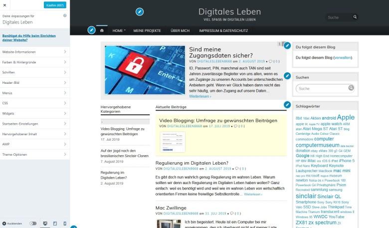 Web Design Beispiel: Optitheme