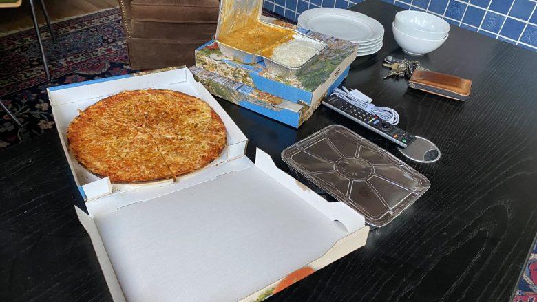 Die Pizza von Christoph und Bibi ist schon da