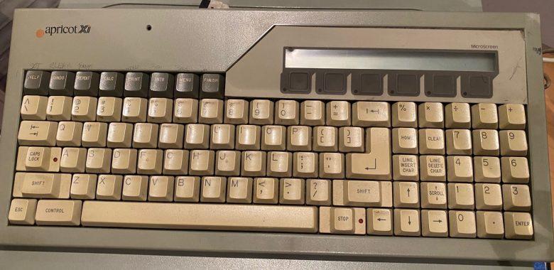 Eine gute PC-Tastatur beim Apricot XI. Mit Zusatzfunktionen. Entwicklung der Computertastaturen