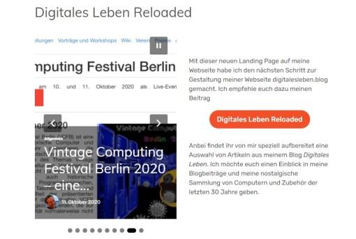 Der Gutenberg-Block Beitragskarussel. Digitales Leben Reloaded