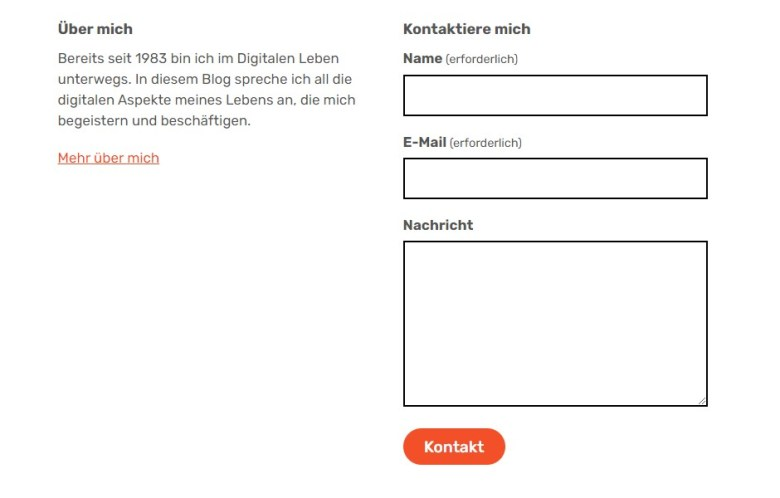 Der Gutenberg-Block Kontakt. Digitales Leben Reloaded
