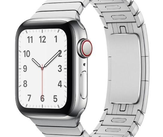 Apple Watch mit Metallglieder-Armband