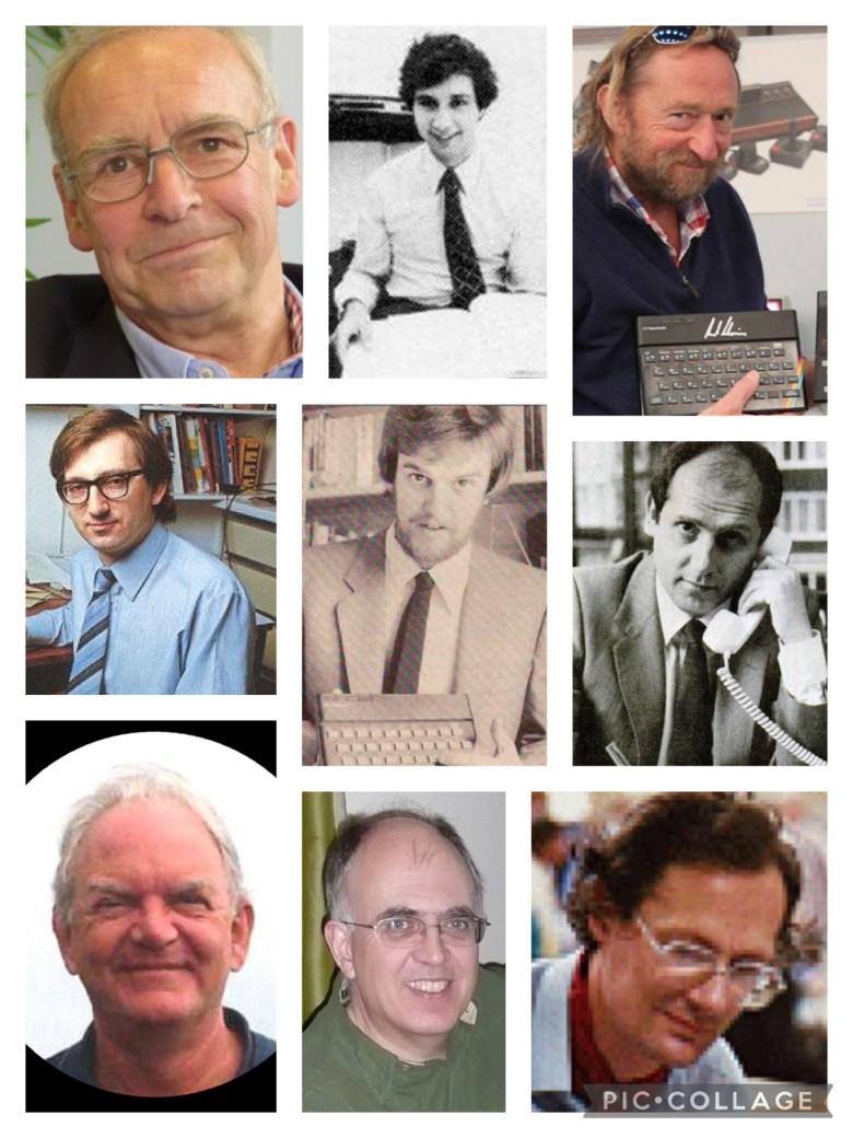 Eine Collage von Wegbegleitern von Sir Clive Sinclair