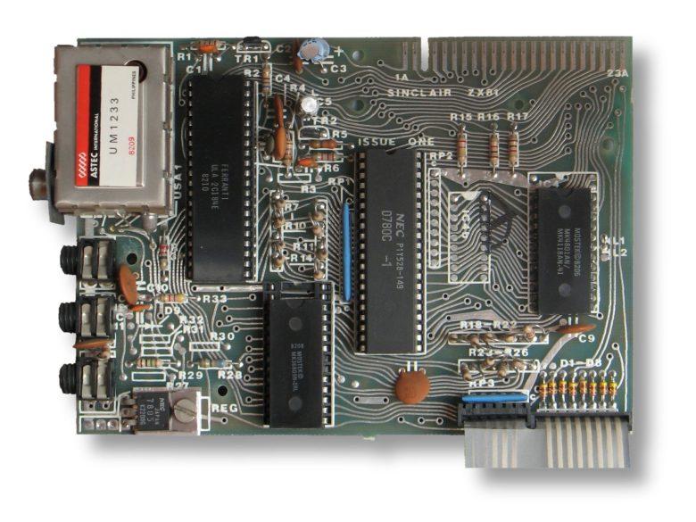 Das Motherboard des Sinclair ZX81