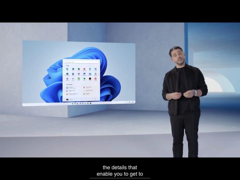 Panos Paney bei der Produktvorstellung von Windows 11