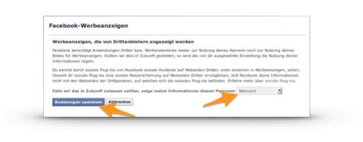 Facebook: Personalisierte Werbung ausschalten