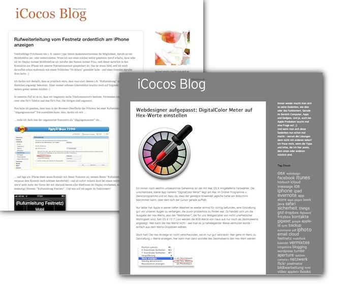 Facelift für iCocos Blog