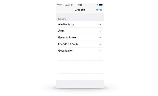 Einen neuen Kontakt am iPhone erfassen und einer Gruppe zuordnen