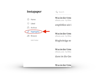 Instapaper Highlights