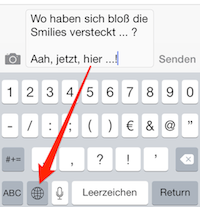 iOS Umschalten zwischen Tastaturen