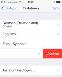 iOS Tastatur entfernen