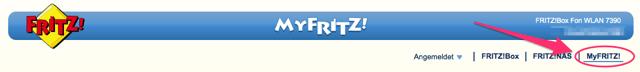 MyFritz (Menü)