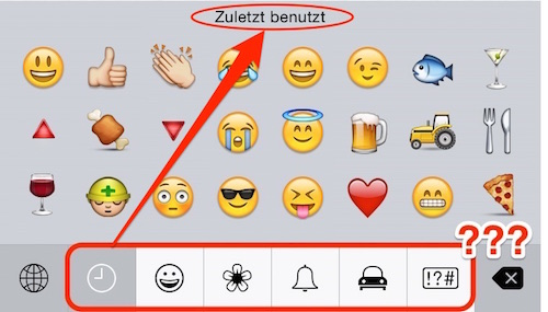 Emoticons am iPhone