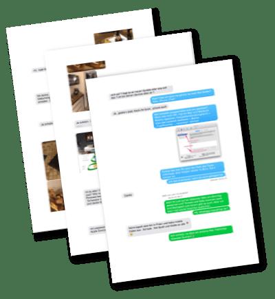 Nachrichten-Verlauf als PDF gesichert