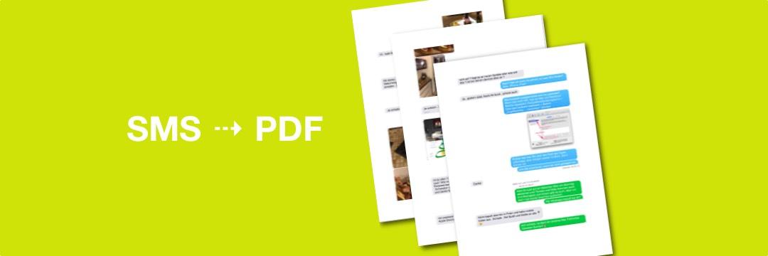 SMS-Nachrichten als PDF sichern