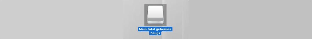 Disk Image auf Desktop