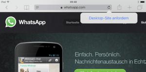WhatsApp Web am iPad einrichten